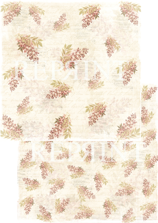 RP0240 Nordic Light Collection Patterned paper 12x12, 200 gm Christmas flowers