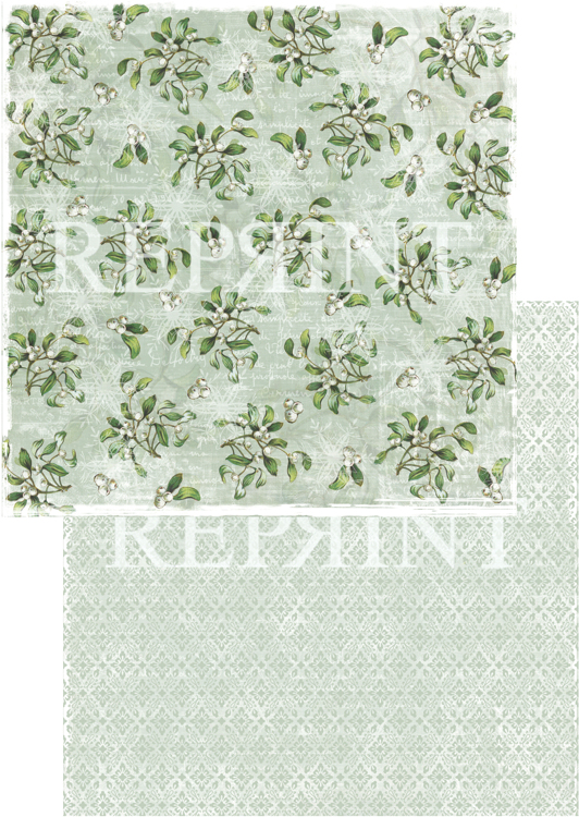 RP0242 Nordic Light Collection Patterned paper 12x12, 200 gm White berries