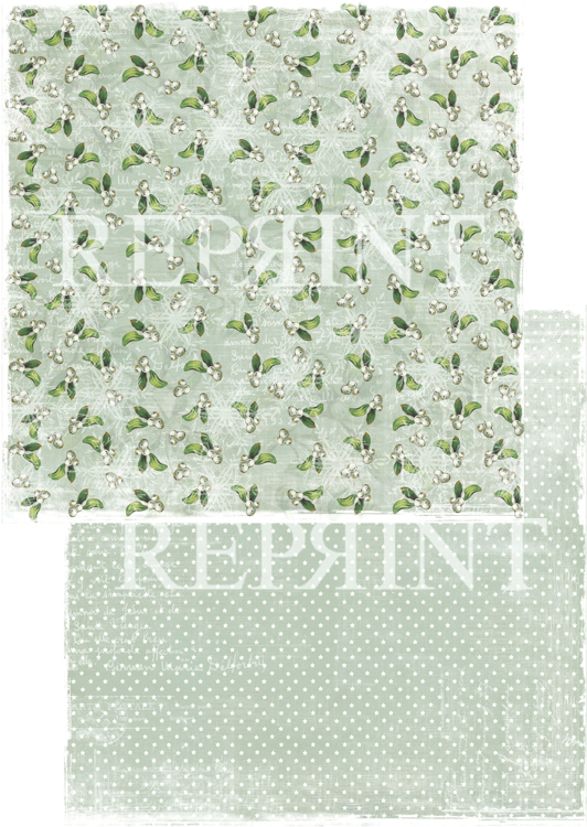 RP0243 Nordic Light Collection Patterned paper 12x12, 200 gm Small white berries