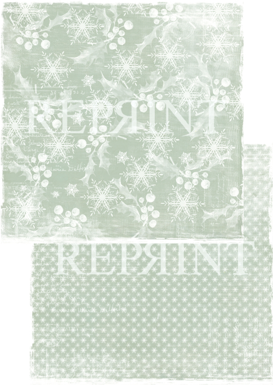 RP0244 Nordic Light Collection Patterned paper 12x12, 200 gm White christmas