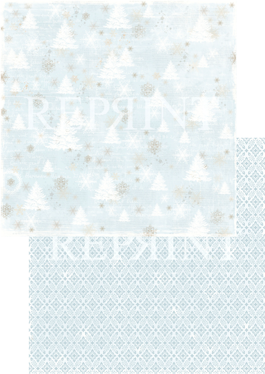 RP0246 Nordic Light Collection Patterned paper 12x12, 200 gm Trees