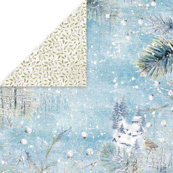 CP-WDR01 WINTER DREAM Scrapbooking single paper 12x12, 200gsm