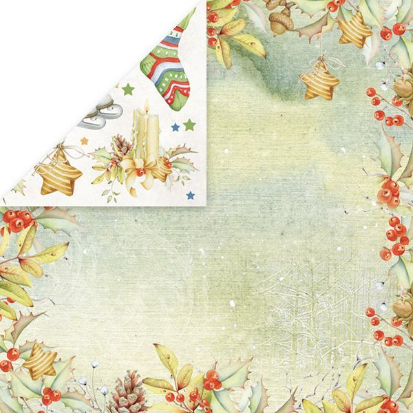 CP-WDR02 WINTER DREAM Scrapbooking single paper 12x12, 200gsm
