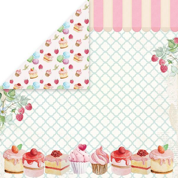 CP-SD04 SWEET DESSERT Scrapbooking single paper 12x12, 200gsm