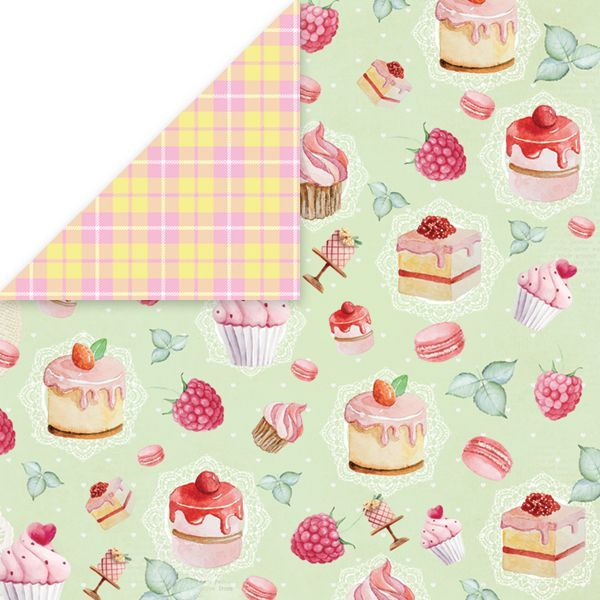 CP-SD05 SWEET DESSERT Scrapbooking single paper 12x12, 200gsm