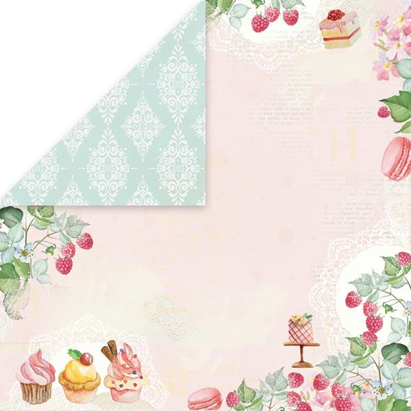 CP-SD06 SWEET DESSERT Scrapbooking single paper 12x12, 200gsm