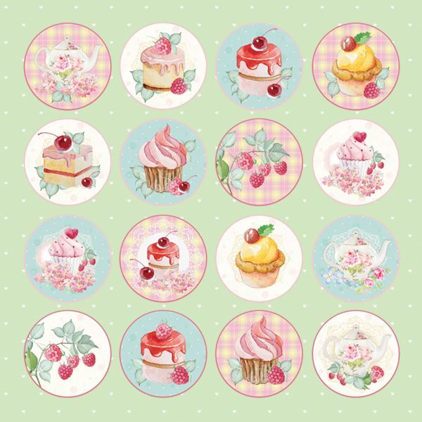 "CP-SD07 SWEET DESSERT Sheet of elements to be cut out 12X12"",200gsm"