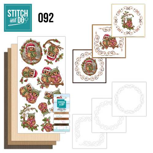 STDO092 Stitch and Do 92 - Christmas Owls