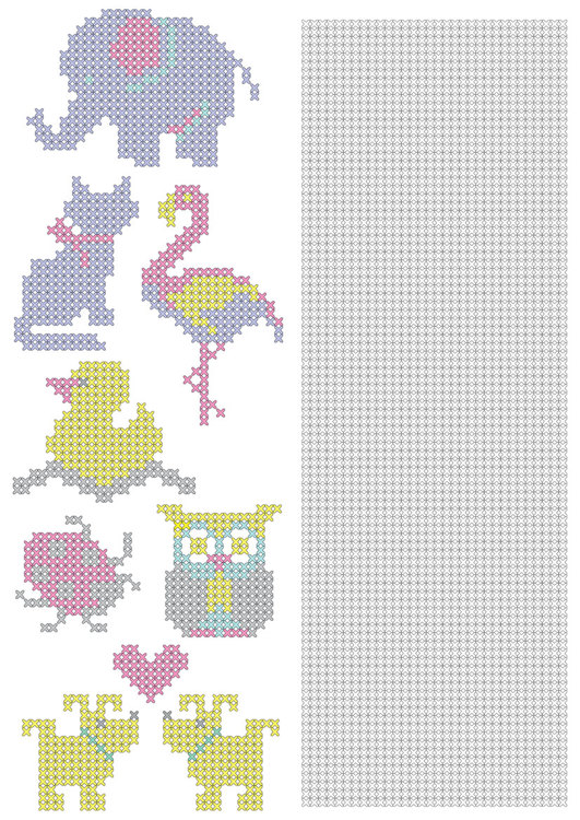 CCPAT001 Free CrossCraft Pattern-1 Animals & part for making own designs