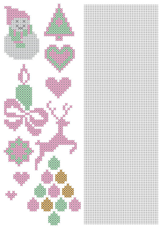 CCPAT002 CrossCraft Pattern-2 Christmas & part for making own designs