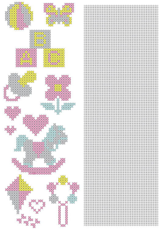 CCPAT003 CrossCraft Pattern-3 Baby & part for own making designs