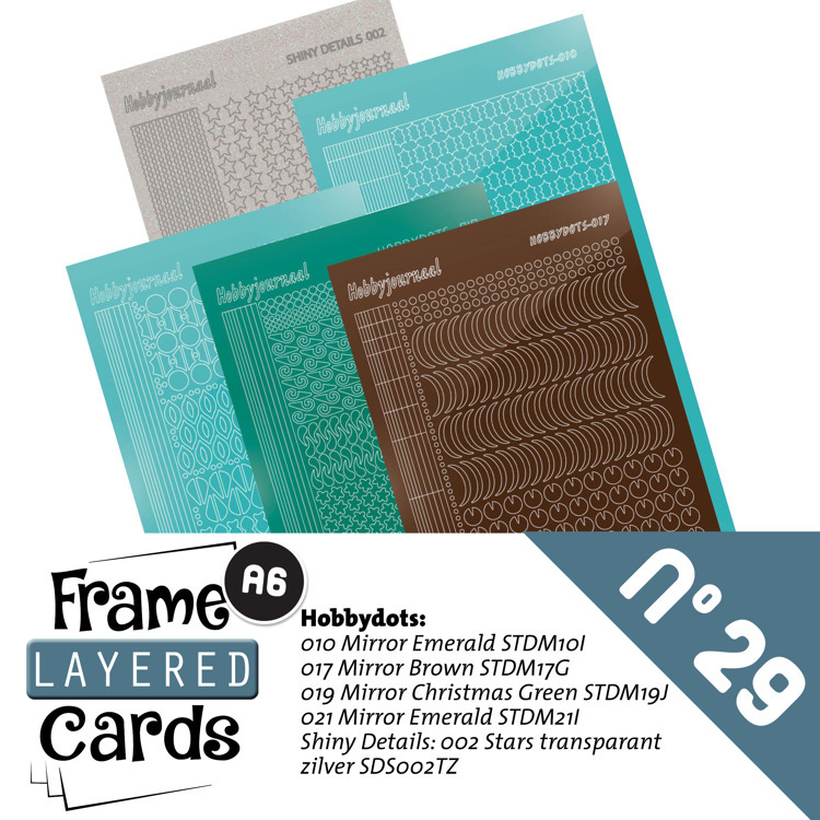 LCST029 Frame Layered Cards 29 - Stickerset