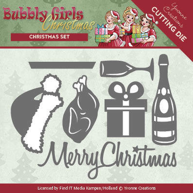 YCD10152   Dies - Yvonne Creations - Bubbly Girls Christmas - Christmas Set Yvonne Creations