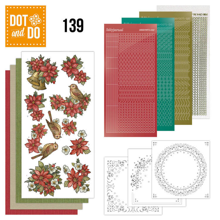 DODO139 Dot en Do 139 Poinsettia Christmas