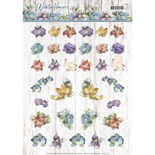 CD11198 knipvel - Precious Marieke - Winter Flowers - Mini