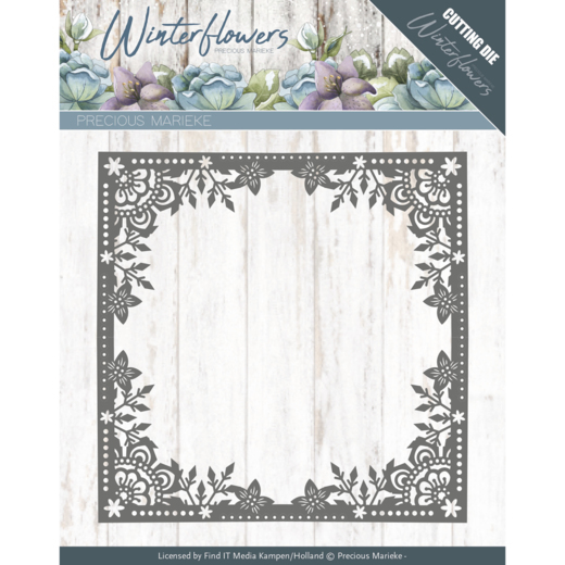 PM10138 Dies - Precious Marieke - Winter Flowers - Ice Flower Frame