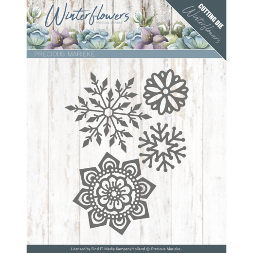 PM10143 Dies - Precious Marieke - Winter Flowers - Ice flowers