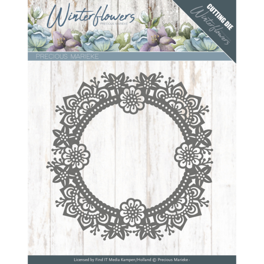PM10141 Dies - Precious Marieke - Winter Flowers - Ice flower circle
