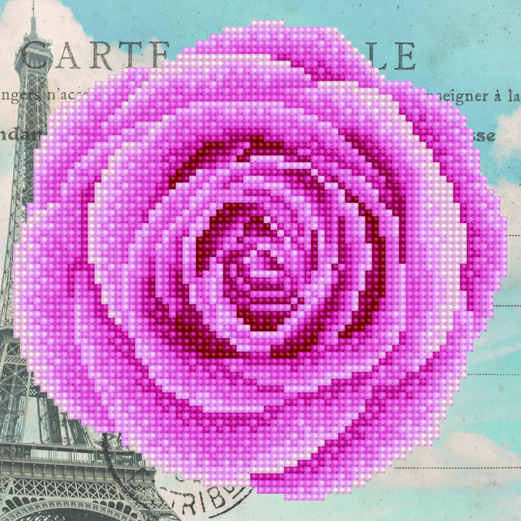 49288 DIAMOND ART Kits 22x22cm ROSE