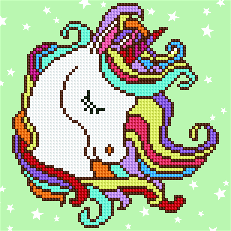 49291 DIAMOND ART Kits 22x22cm - FUN UNICORN