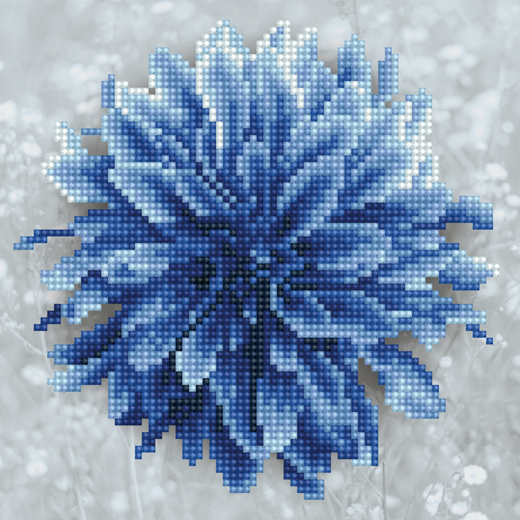 49393 DIAMOND ART Kits 22x22cm BLUE DAHLIA
