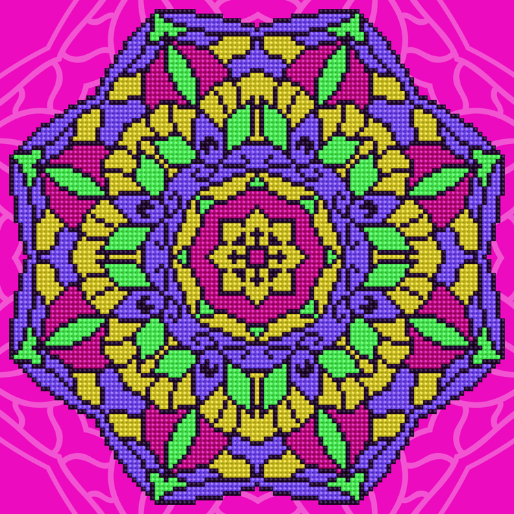49301 DIAMOND ART Kits 32x32cm MANDALA