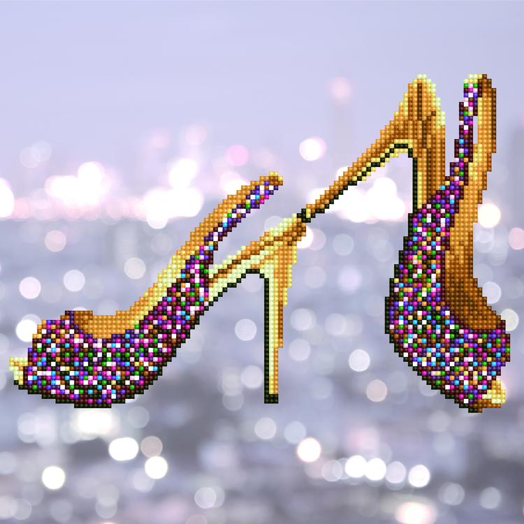49302 DIAMOND ART Kits 32x32cm HIGH HEELS