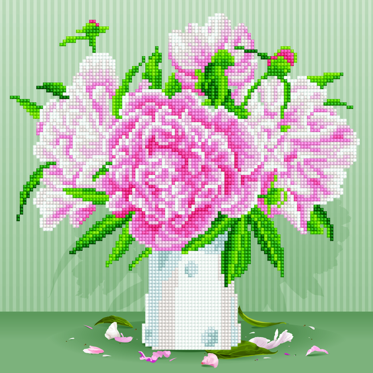49371 DIAMOND ART Kits 32x32cm ENGLISH ROSES