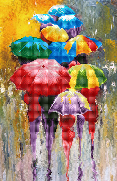 49385 DIAMOND ART Kits 37x57cm RAINY DAY