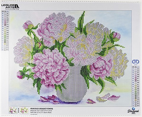 49388 DIAMOND ART Kits 47x372cm FLOWER BOUQUET