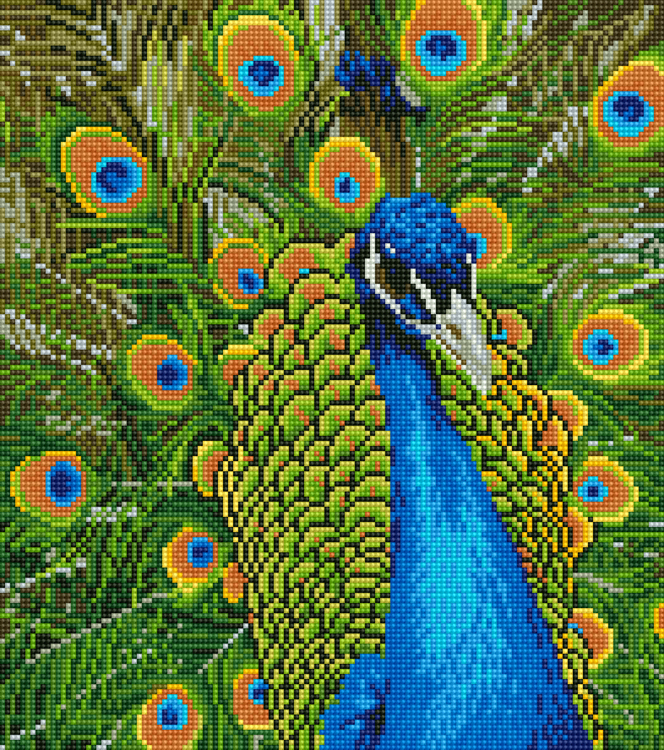49940 DIAMOND ART Kits 37x42cm PEACOCK