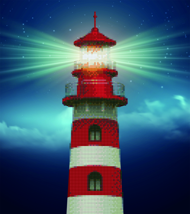 49941 DIAMOND ART Kits 37x42cm LIGHT HOUSE