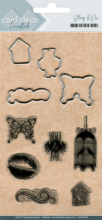 CDESD004 Clear stamps & Cutting Die