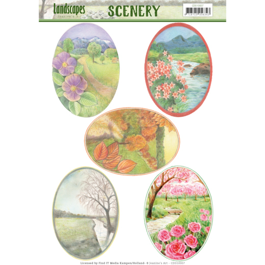 CDS10007 Scenery - Jeanine's Art - Landscapes - Landscape Oval