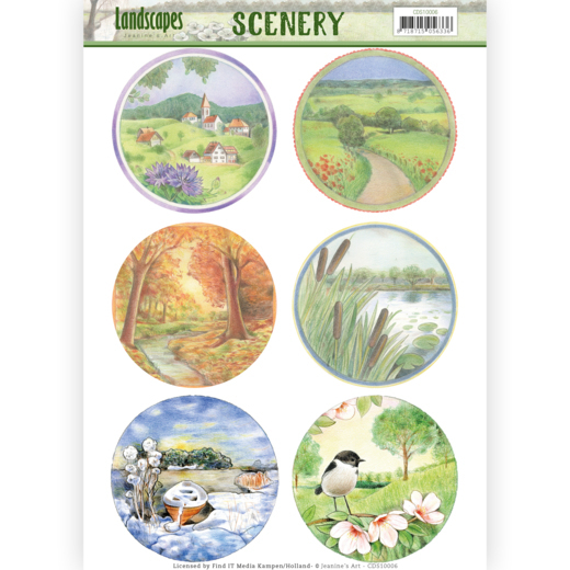 CDS10006 Scenery - Jeanine's Art - Landscapes - Landscape Circle