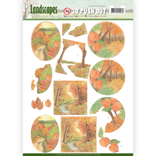 SB10297 3D Pushout - Jeanine's Art - Landscapes - Fall Landscapes