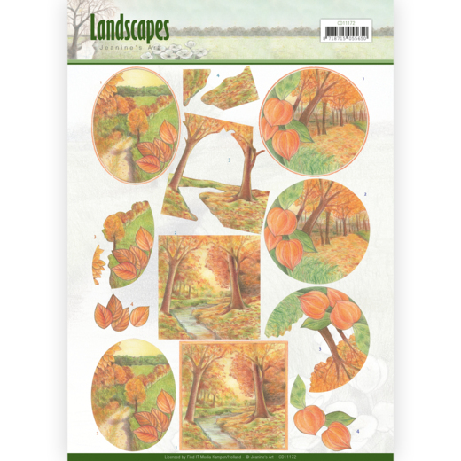 CD11172 3D knipvel - Jeanine's Art - Landscapes - Fall Landscapes