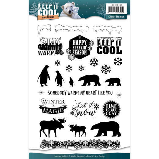 ADCS10056 - Clear stamps Amy Design - Keep it Cool