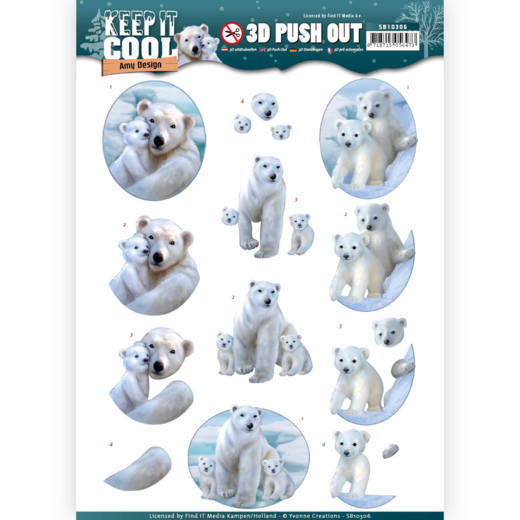 SB10306 - HJ16401 3D Pushout - Amy Design - Keep it Cool - Cool Polar Bears