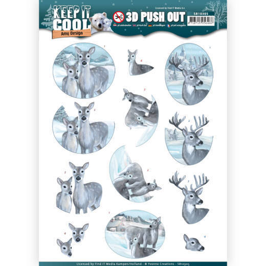 SB10305 3D Pushout - Amy Design - Keep it Cool - Cool Deers