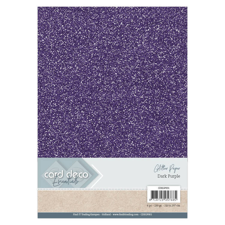 CDEGP001 Card Deco Essentials Glitter Paper Dark Purple
