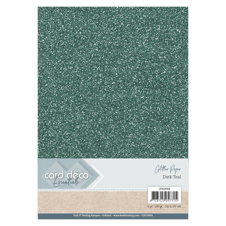 CDEGP004 Card Deco Essentials Glitter Paper Dark Teal