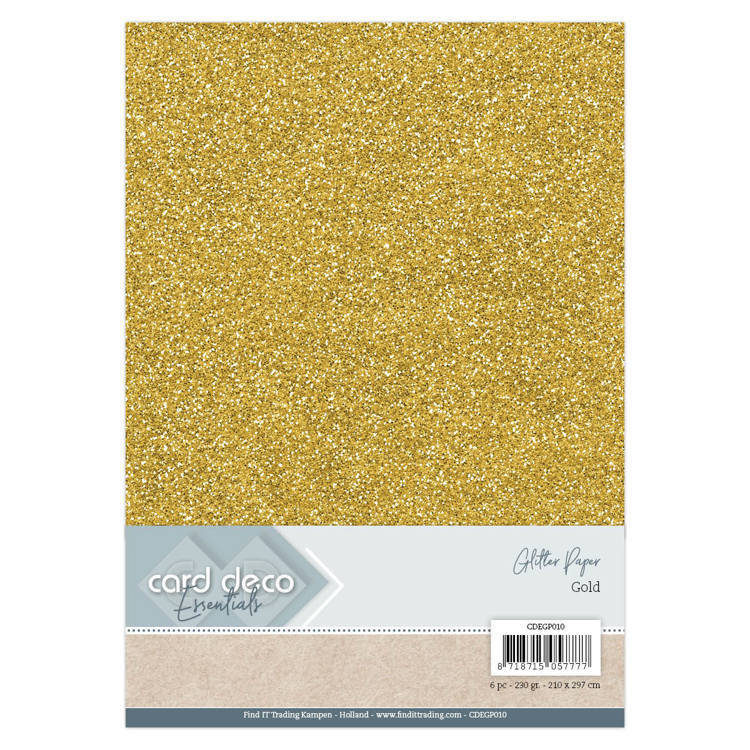 CDEGP010 Card Deco Essentials Glitter Paper Gold
