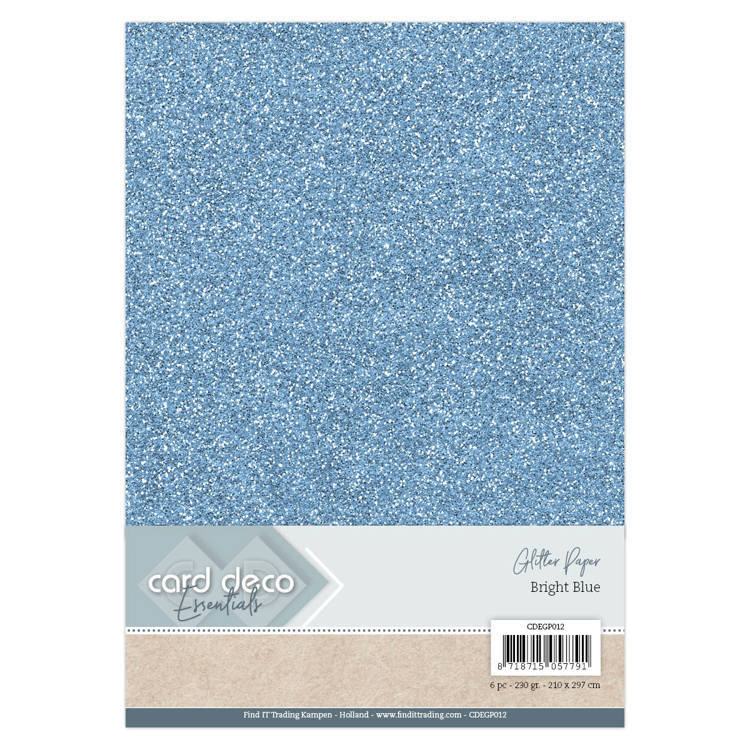 CDEGP012 Card Deco Essentials Glitter Paper Bright Blue