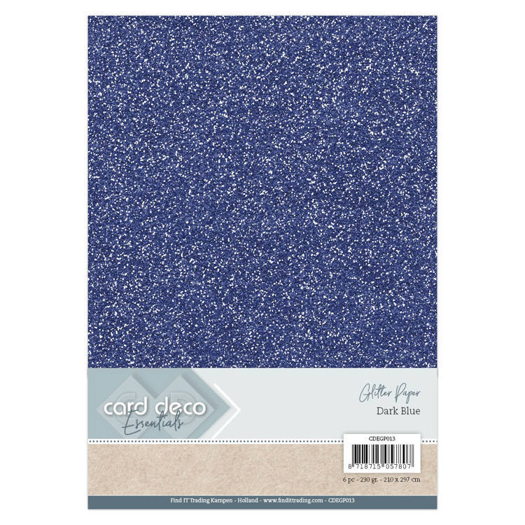 CDEGP013 Card Deco Essentials Glitter Paper Dark Blue