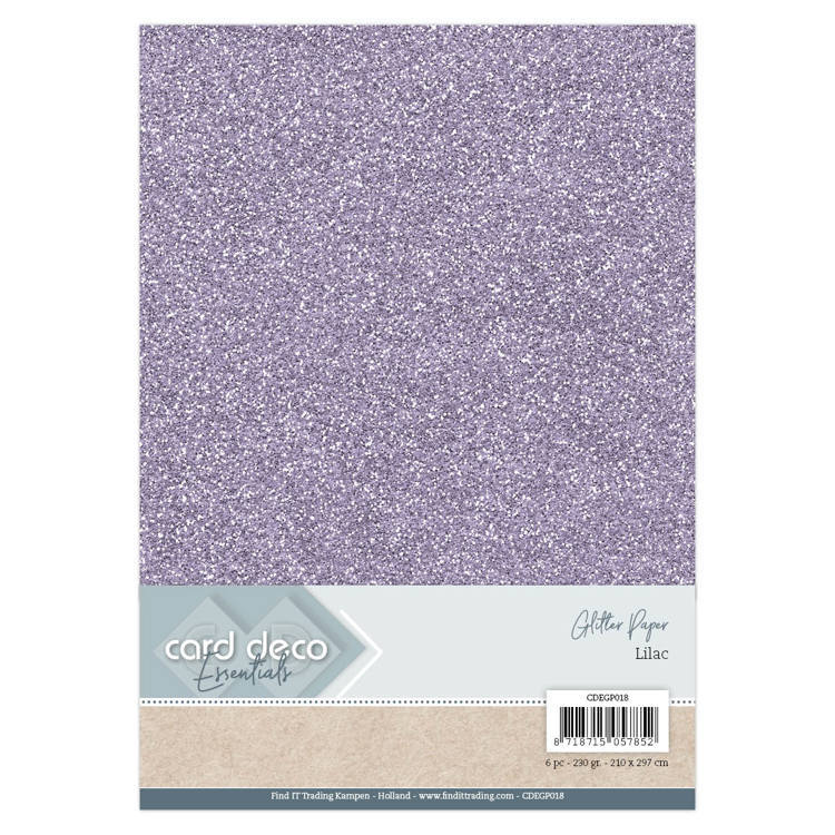 CDEGP018 Card Deco Essentials Glitter Paper Lilac