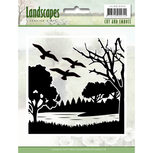 JAEMB10006  Cut and Embossing folder - Jeanine's Art - Landscapes