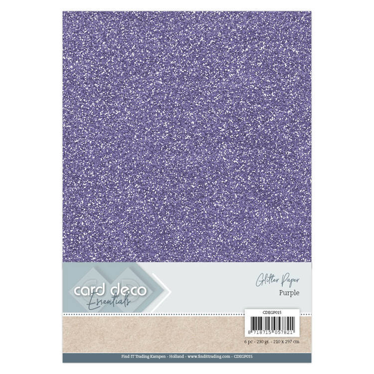 CDEGP015 Card Deco Essentials Glitter Paper Purple
