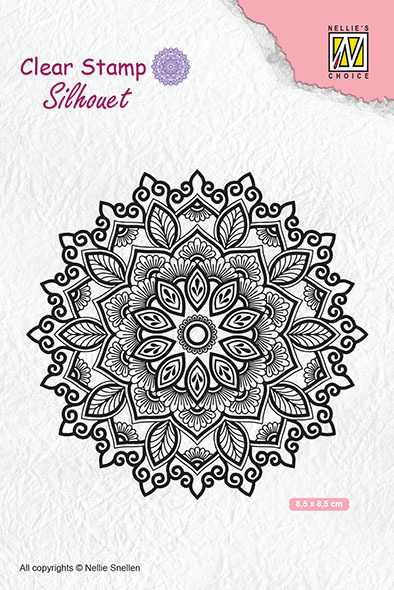 SIL043 Clear stamps silhouette Mandala-4