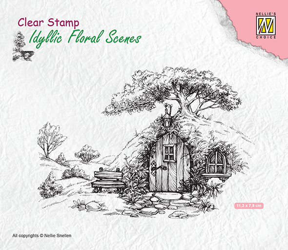 IFS012 Clear stamps Scene with old house